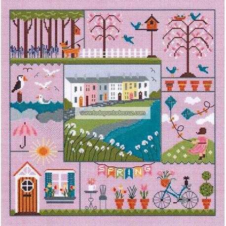 Una puntada para cada estación primavera Little Dove Designs Stitch for all season spring
