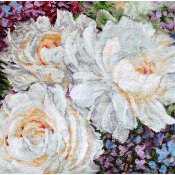 Acuarela de Rosas Blancas Letistitch LETI930 White Roses