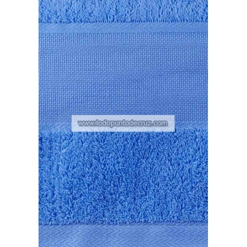 Toalla Lavabo Rizo Azul Mar