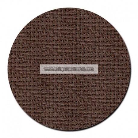 Tela aida 14 ct. Marrón Chocolate Permin 357-96