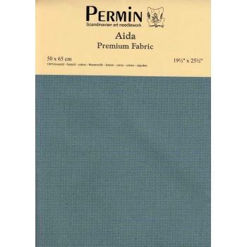 Tela aida 14 ct. Azul Mediterráneo Permin 357-383