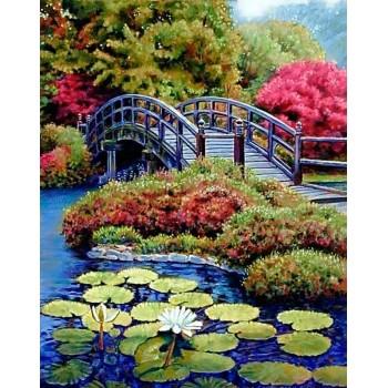 Jardín Japonés con Diamantes Wizardi WD096 Japanese Garden