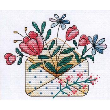 Flores en una Carta MP Studia M-375 Flowers in a letter