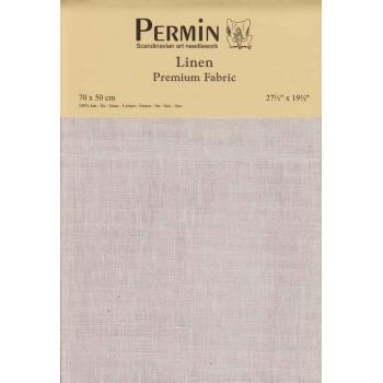 Tela de lino 28 ct. Gris Perla Permin 076-261 China Pearl