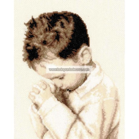 Niño rezando Vervaco PN-0162064 praying boy