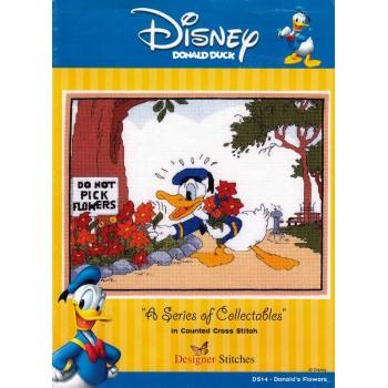 Disney Pato Donald Designer Stitches 14 Donald's Flowers