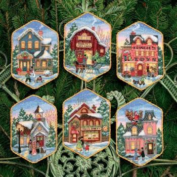 Adornos Navidad en el Pueblo Dimensions D08785 Christmas Village Ornaments