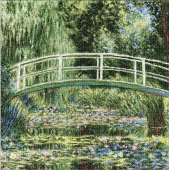 Nenúfares Blancos y Puente Japonés (Monet) Golden Fleece Whiter Water Lilies Claude Monet 1899