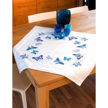 Mantel Mariposas Azules Vervaco PN-0145088 Blue Butterflies tablecloth