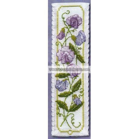 Guisante de Olor: Marcapáginas textile Heritage BKSP Sweet Pea Bookmark