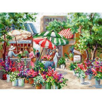El Gran Mercado de las Flores Letitstitch LETI978 Flower Market
