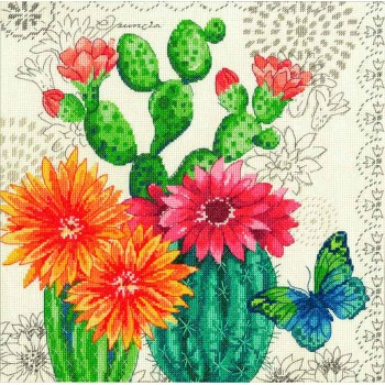 Cactus en Flor Dimensions 70-35388 Catus Bloom