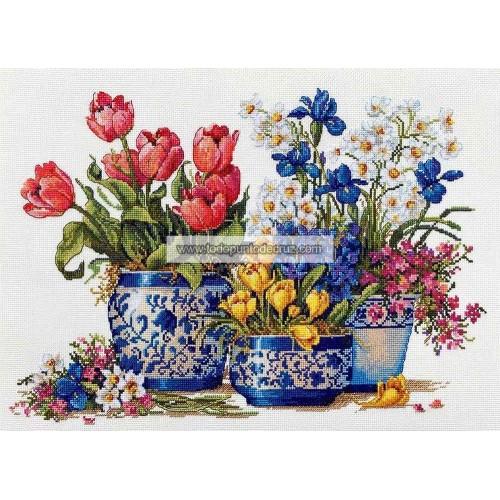 Jardín Primaveral en Azul