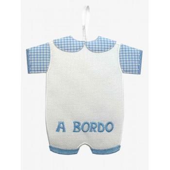 Decoración Bebé a Bordo BM Ricami FN1033 Niño