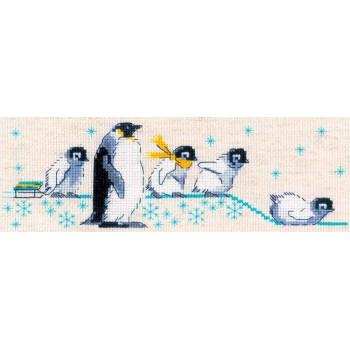 Familia de Pingüinos RIOLIS 1975 Penguins