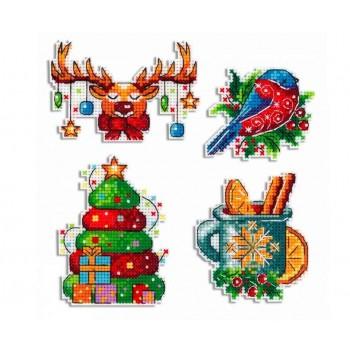 Imanes Estaciones: Invierno P-581 Seasons Winter Magnets