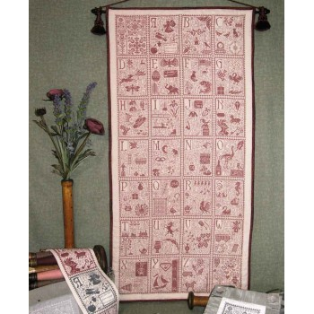 Tapiz Abecedario Rosewood Manor S-1136 ABC Tapestry