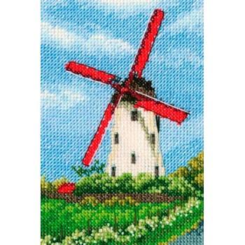 Molino de Aspas Rojas RTO C283 windmill