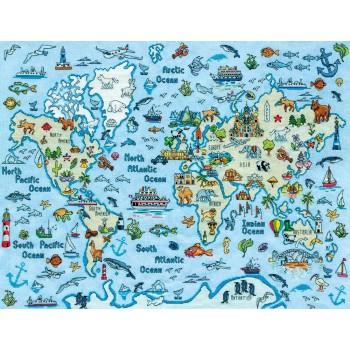 Mapa del Mundo Design Works Crafts 3270 World Map