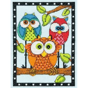 Trío de Búhos Dimensions D70-65159 Owl Trio
