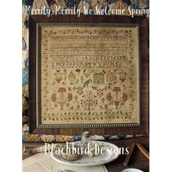 Con Alegría Bienvenida Primavera Blackbird Designs 304 Merrily, merrily we welcome Spring