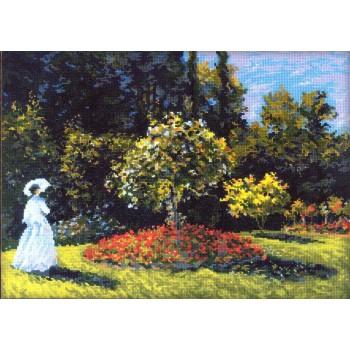 Dama en el Jardín (Monet)