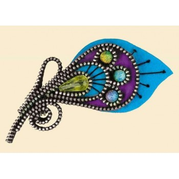 Broche Pluma de Pavo Real