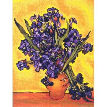 Jarrón con Irises (V. Van Gogh)