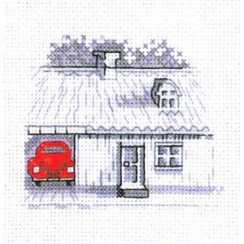 Coche Rojo: delante del Garaje