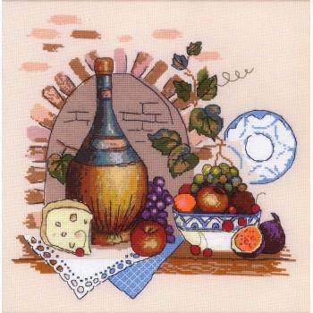 Bodegón Rústico con Vino