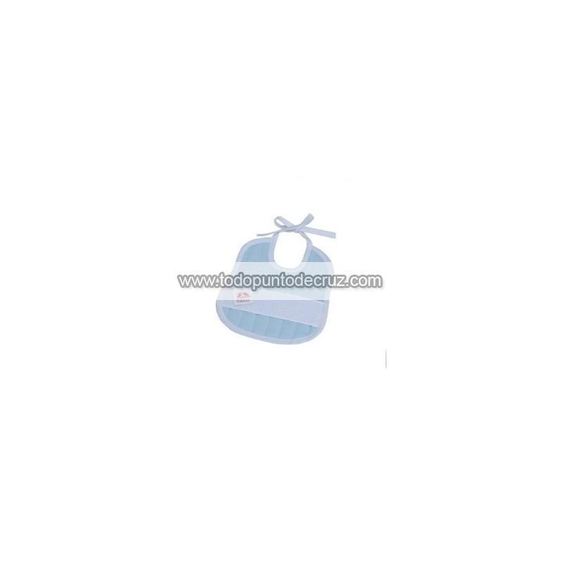 Babero Mini Rayitas Azul Celeste