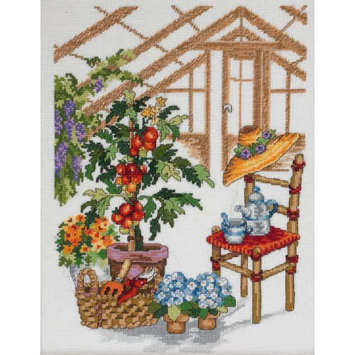 Invernadero con Manzano