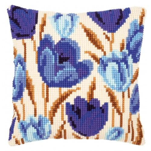 Cojín Tulipanes Azules