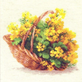Cesta de Flores Amarillas