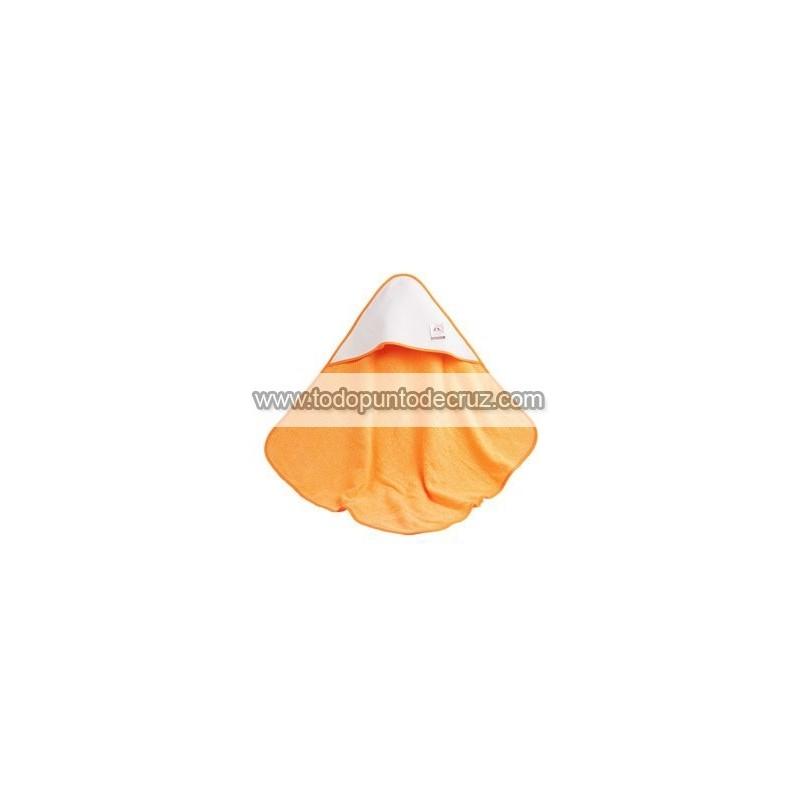 Naranja: Toalla Capucha