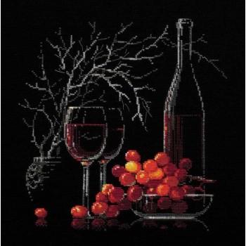 Bodegón con Vino Tinto