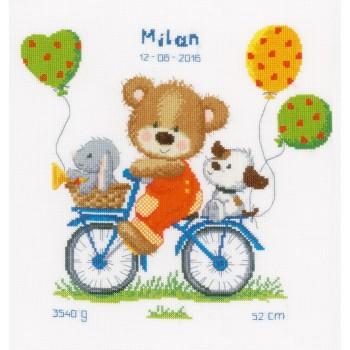 Natalicio Osito en Bicicleta