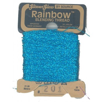Hilo Glissen Gloss Rainbow  Blending Thread Azul Turquesa 201