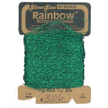 Hilo Glissen Gloss Rainbow  Blending Thread Verde Intenso Brillante 306