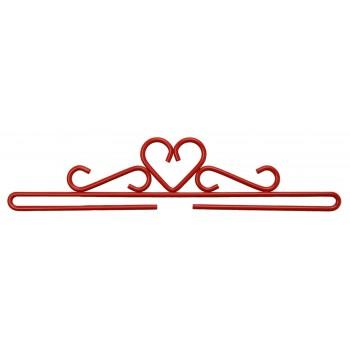 Colgador Metálico Rojo Corazón Permin 5125