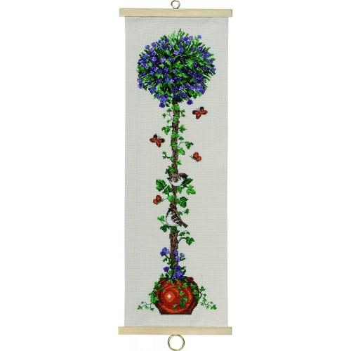 Arbolito de Flores Moradas