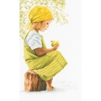 Niña con Manzana