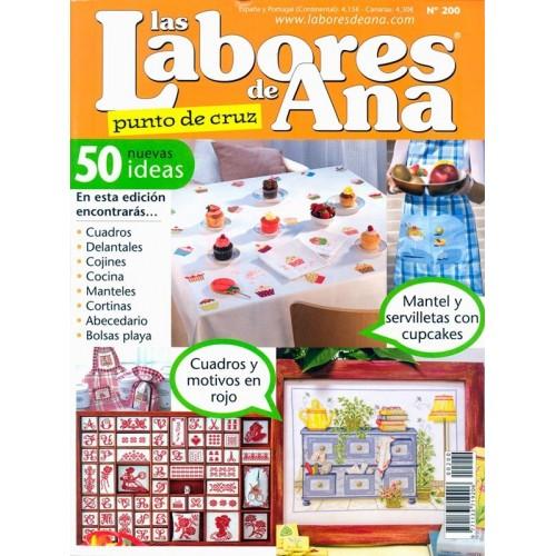 Labores de Ana nº 200 (Cuadritos rojos, pasteles)