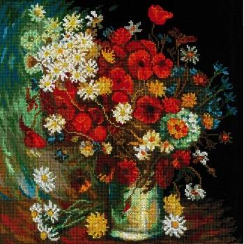 Bodegón con Flores Silvestres y Rosas (Van Gogh)