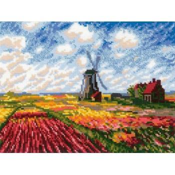 Paisaje Holandés con Tulipanes (Monet)