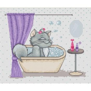 Kitty en el Baño