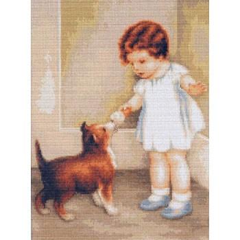 La Niña y el Cachorro