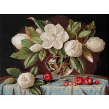 Jarrón con Magnolias