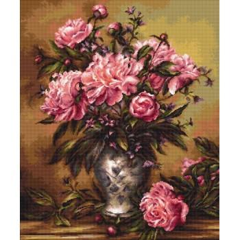 Jarrón de Peonías Rosas