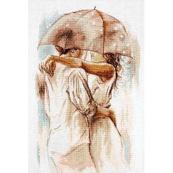 Abrazo Bajo el Paraguas